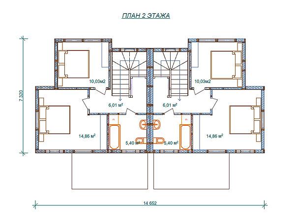 Как сделать дом на две семьи 656
